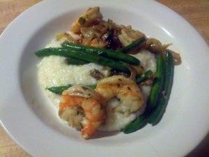 Maryann's Shrimp and Grits plated