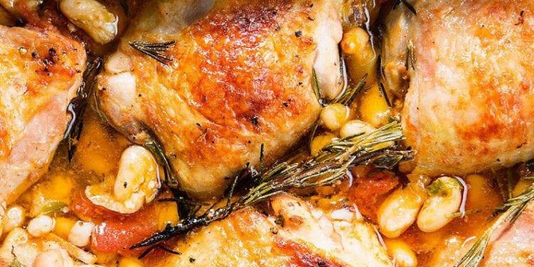 Braised Chicken thighs photo