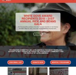 website screenshot - rocla.org