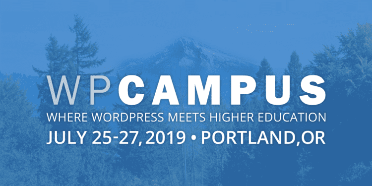 WPCampus 2019 banner